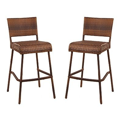 Sonoma Outdoors 2 Pc Madera Wicker Bar Stool Set Things