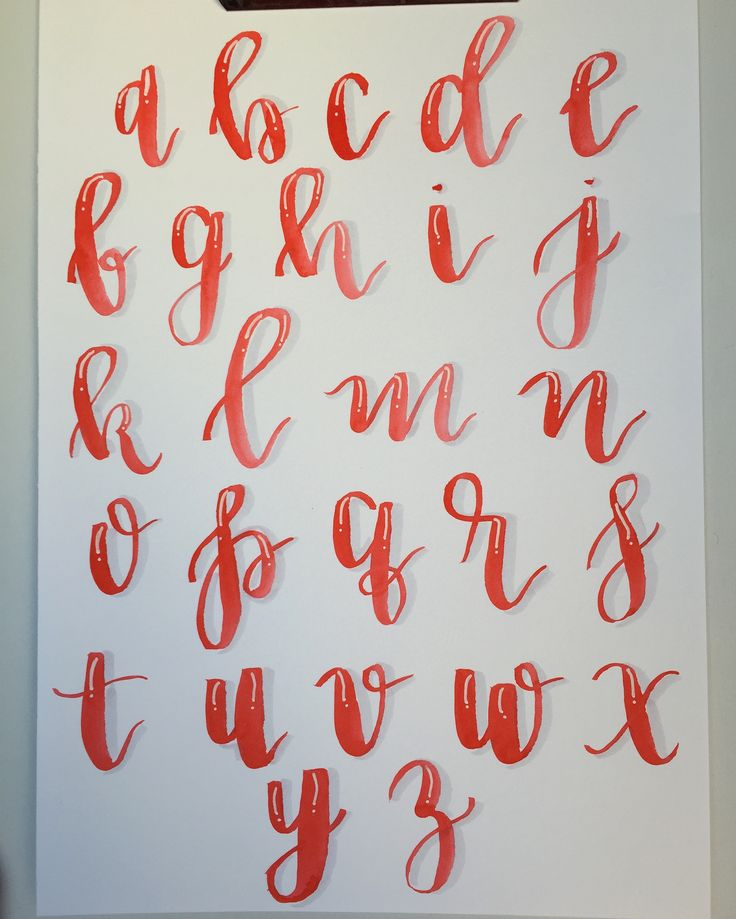 Alphabet Card Calligraphy Alphabet