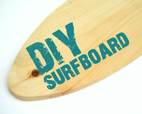DIY Paint Your Own Surfboard 3 Sizes Shelf Add by ProjectCottage