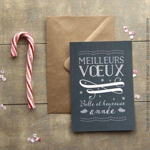 """Carte de voeux """"Ardoise"""""""