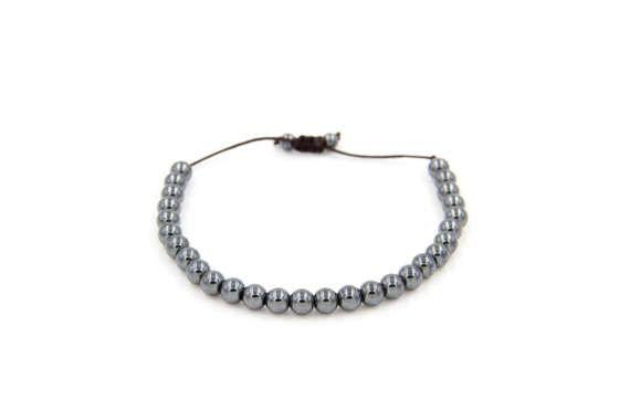 Armband hämatit Naturstein Perlen Classymo