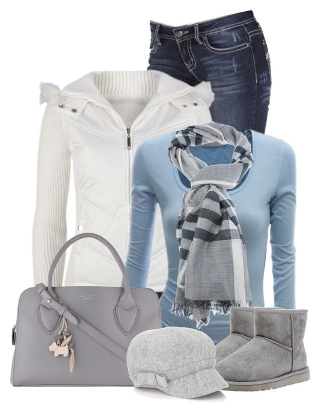 """""""Untitled #407"""" by denise-schmeltzer ❤ liked on Polyvore featuring Full Tilt, Burberry, UGG Australia, Radley and Accessorize"""