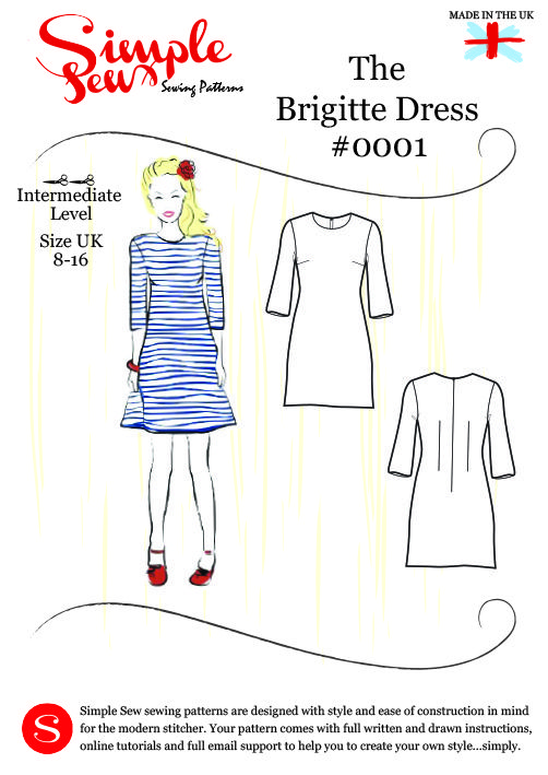 Free download - The Brigitte Dress #0001 by Simple Sew Sewing Pattern via Love Sewing Magazine   Thread Carefully