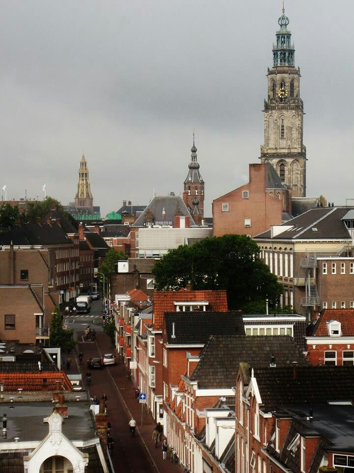Three towers in Groningen.