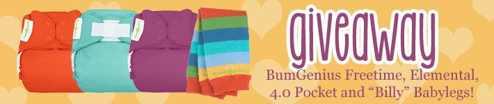 Pin it to Win it! Abby's Lane is having a Bumgenius Diaper Giveaway! Win a Freetime, Elemental, 4.0 Pocket, and Billy Babylegs.