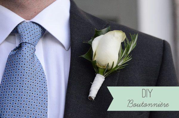 DIY Boutonniere - DIY Buttonhole for the Groom - Easy Wedding DIY   OneFabDay.com