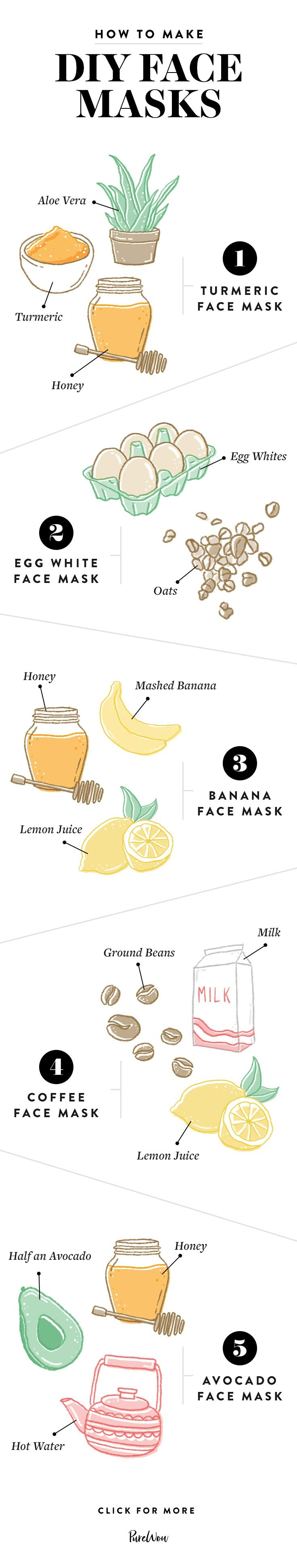 From bananas to coffee beans, your pantry is filled with fresh, skin-loving ingredients. Here's how to make the best DIY face masks at home.