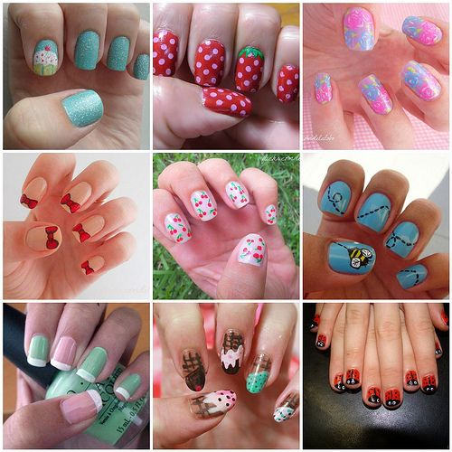 Nail art DIY... time to go to the dollar store and pick up a bunch of those nail art polishes!