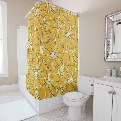 sliced oranges shower curtain -nature diy customize sprecial design