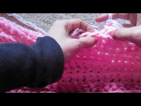 finger crochet tutorial - thick, fat stitches with 3 strands at a time. I'm gonna get yarn and do this ASAP!! Looks so easy!! Great for the kiddos to exchange for their birthdays coming up!