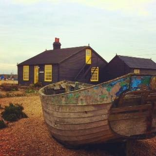 Prospect Cottage, film-maker Derek Jarman's former home at Dungeness