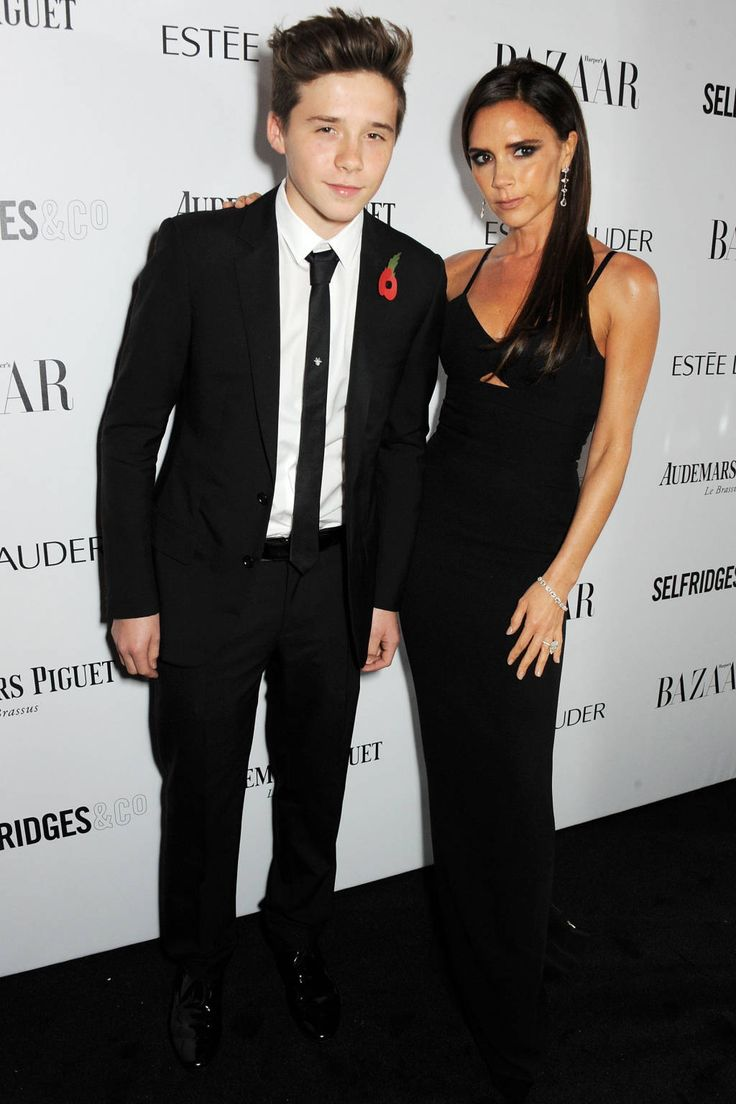 Brooklyn Beckham and Victoria Beckham at Bazaar UK's Women of the Year Awards