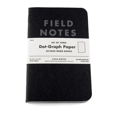 Field Notes Pitch Black 3-pak | Stilografika - notesbøger, fyldepenne, blyanter og tilbehør