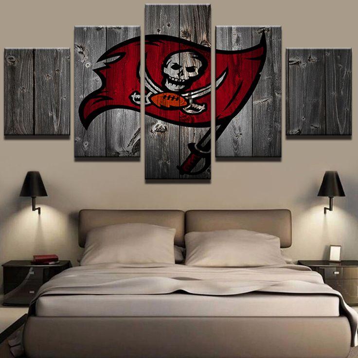 Tampa Bay Buccaneers Football Barnwood Style Canvas