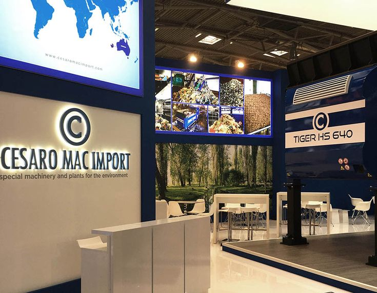 Tosetto fabricated the exhibition space of Cesaro Mac Import, leading company in environmental technologies sector, at IFAT Trade Fair 2016 in Munich