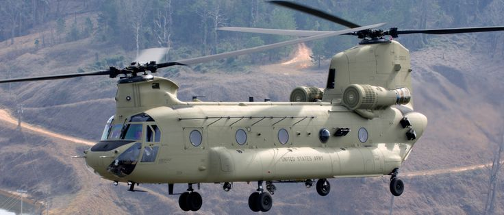 Aviones Caza y de Ataque: CH-47 Chinook        Armamento hasta 3 pivotes montados de armas medianas máquina (1 en la rampa de carga y 2 en las ventanas de los hombros), generalmente de 7,62 mm (0,308 pulgadas) M240 / FN MAG ametralladoras