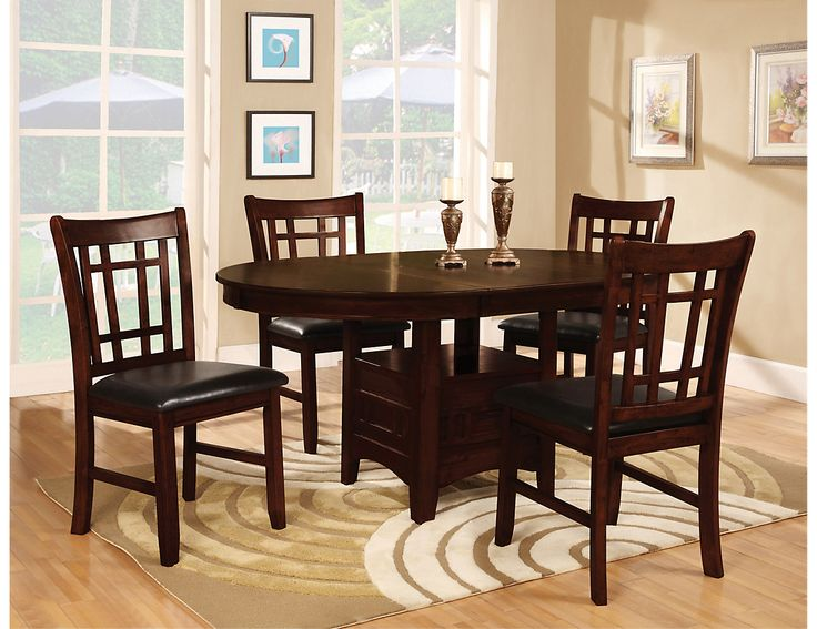 Dalton 5 Piece Chocolate Dining Package Round Room TablesDining