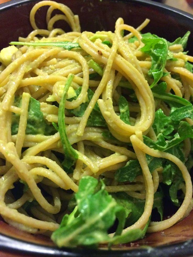 Linguine with Avocado and Arugula Pesto