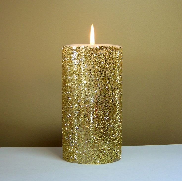 77 best images about 5 year on pinterest metallic gold for Shimmer pillar candle