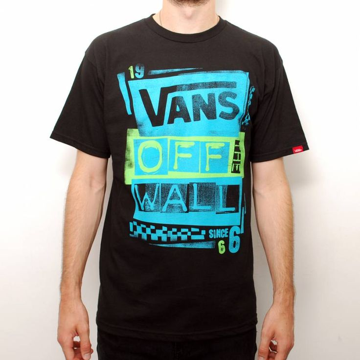 Vans Stenciled Turquoise/Blue/Black T-shirt