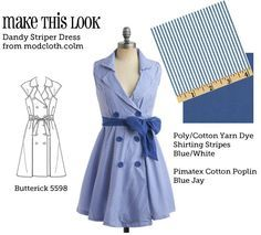 (via MTL: Dandy Striper Dress - The Sew Weekly Sewing Blog Vintage Fashion Community)