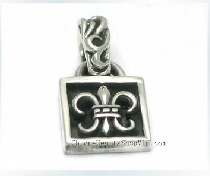 Chrome Hearts BS Fleur Silver Pendant Cheap Sale Shop Square shaped chrome hearts pendant. BS Fleur detail on the center. Materials: 925 Silver. Weigth: 6 gram. Size: 2.0 * 1.0 cm.  you can buy from here:http://www.chromeheartsshopvip.com/chrome-hearts-bs-fleur-silver-pendant-cheap-sale-shop-p-200.html