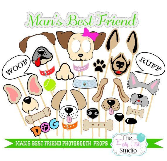 27pc Mans Best Friend Photo Booth Props by ThePartyGirlStudio