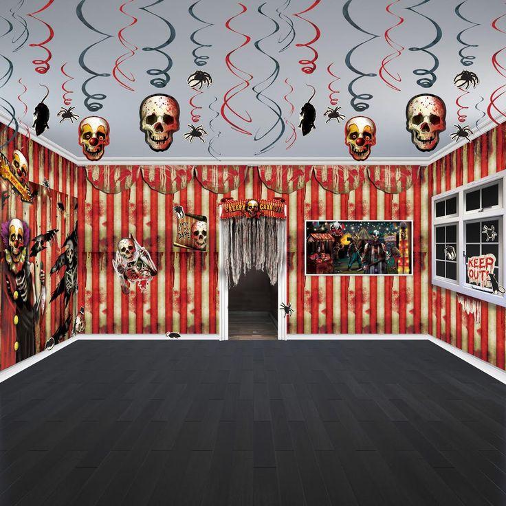 Halloween Horror CREEPY CARNIVAL Circus Party Scene Room