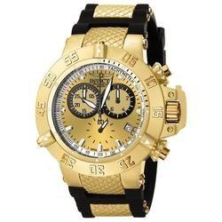 Relógio Invicta Masculino 5517 Subaqua 50mm Banhado A Ouro 18k