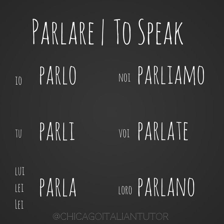 parlare | to speak