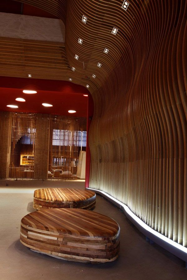 Elegant Tianxi Oriental Club in China Paying Tribute to Wooden Interiors: