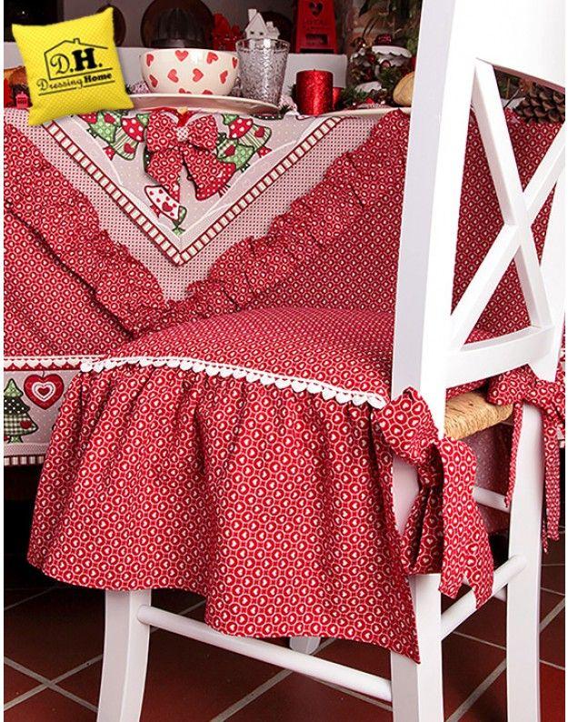 Cuscino per sedia Country chic Collezione Abeti Angelica ...