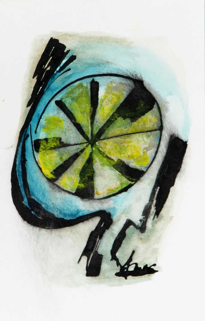 #painting by Petros Devolis (2010) - Ink and diluted #acrylic colors on aquarelle paper 13,0 x 31,9 cm (5.12 x 12.20 in) #modernart #art www.about.me/devolisarts www.facebook.com/devolisarts www.twitter.com/devolisarts