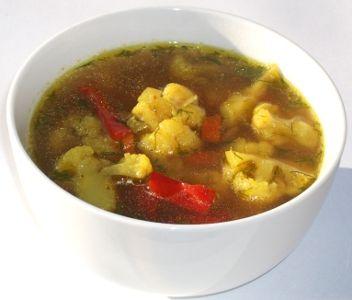 Simple Gobi Rasam - Supa simpla de Conopida