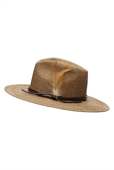 Feather Trim Fedora #Witchery