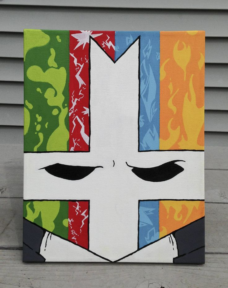 Castle Crashers painting!  (credit: @Red8ball aka CMYKalamari on reddit)