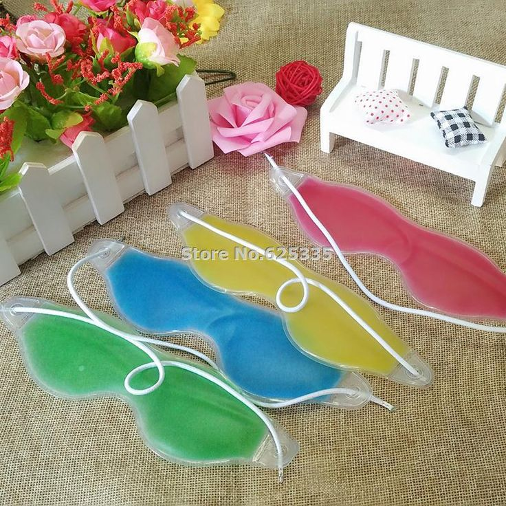 [Visit to Buy] Summer Style Dark Circles Removal Eye Fatigue Relif Eye Gel Ice Goggles Sleep Masks Random Color #Advertisement