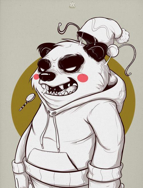 The Bear Squad - Panda illustration by Rafael Diaz