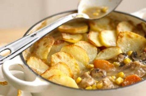 Chicken, sweetcorn and potato hotpot recipe - goodtoknow