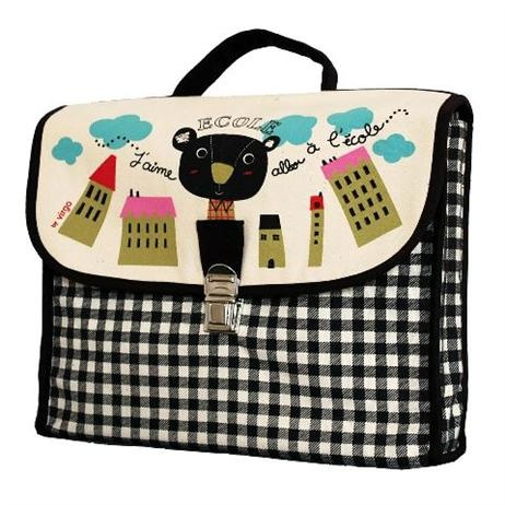 oq en Pâte School Bag    Price: $69.95    Stunning, stylish and unique!    Have your little one stand out from the crowd with this gorgeous school bag by French Coq en Pâte - features metal clip, inside pocket, adjustable shoulder straps and handle!