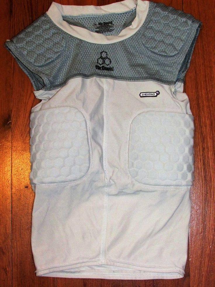 McDavid HexPad Size Youth Medium Padded Football Rib Protector Shirt Gray #McDavid