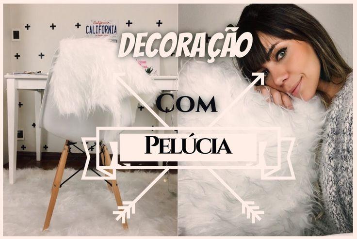 DIY: Decoração com pelúcia branca! tapete,almofada,pufe e pelego por dic...