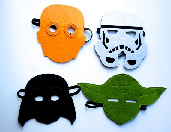 Ultimate Star wars Mask set/Yoda/Darth Vader/ Storm Trooper/C3Po by MelissasStitches on Etsy, $30.00