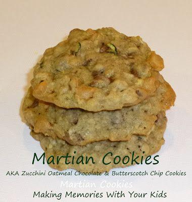 Martian Cookies (AKA Zucchini Oatmeal Cookies) - Making Memories With Your Kids