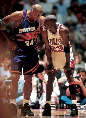 Michael Jordan And Charles Barkley