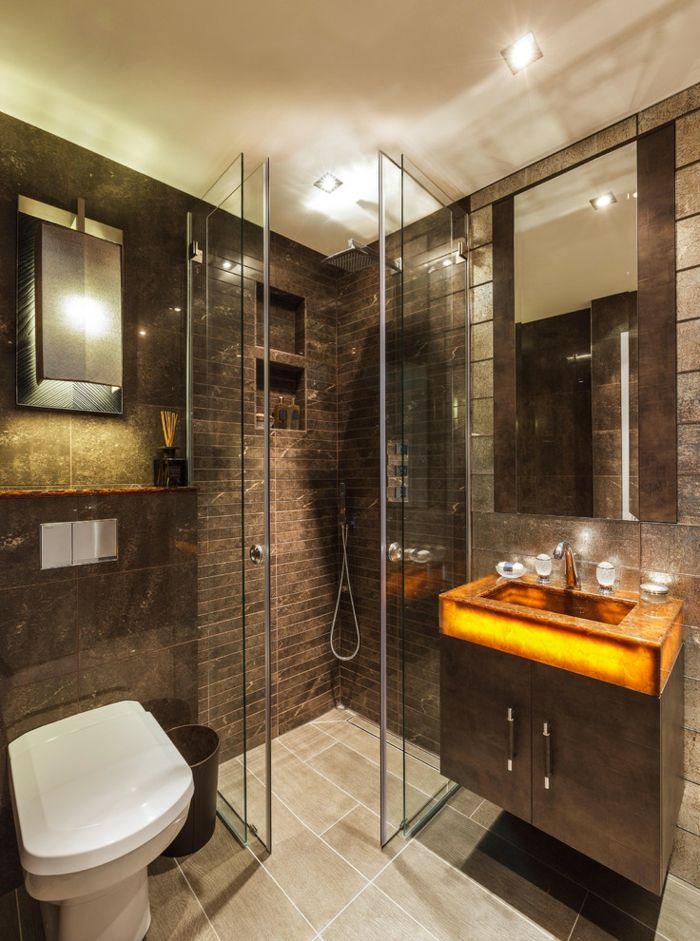 1001 Idees D Interieurs Et D Amenagement En Couleur Wenge Designs De Petite Salle De Bains Petite Salle De Bain Salle De Bain Design