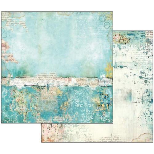 Stamperia – Wonderland – Doppelseitiges 12×12 Papier – Blumen & Schmetterlinge
