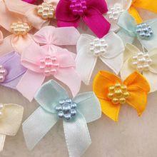 20db Mini szatén szalag Virágok Íjak Ajándék Craft esküvői dekoráció A262 (Kína (szárazföld))