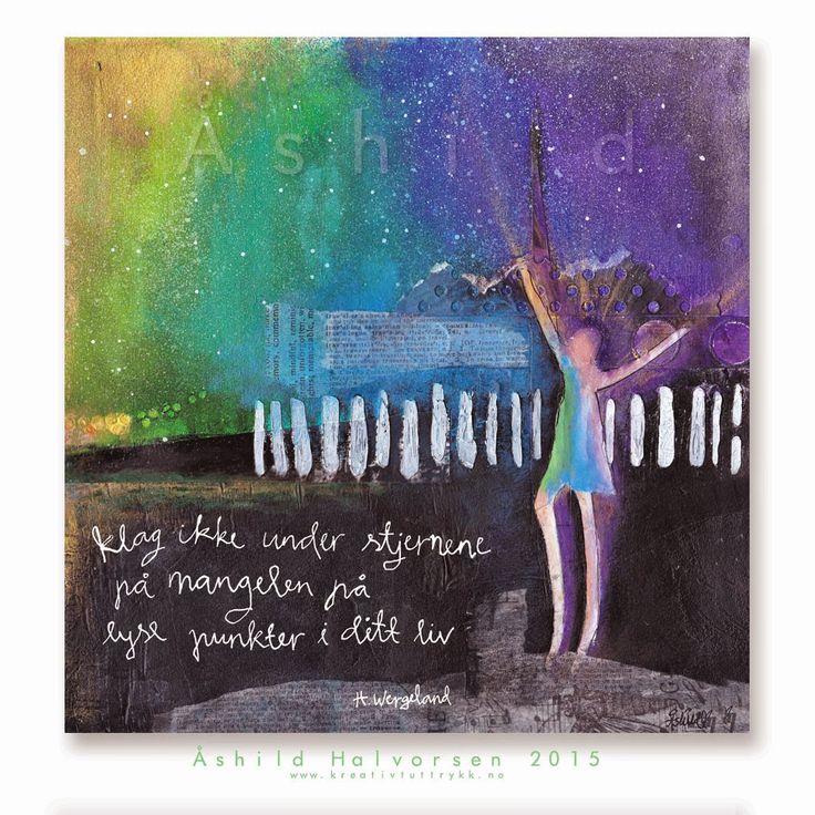 ♥ kreativt uttrykk ♥: Se, hun maler!