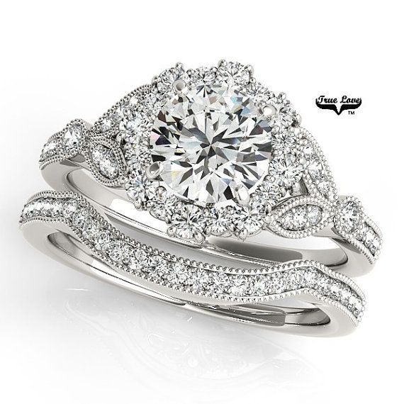 The brilliance of the colorless #moissanite set in the metal of your choice. Matching band available.